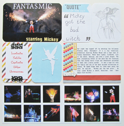 Disney Hollywood Studios Fantasmic Scrapbook Page Project Life Album