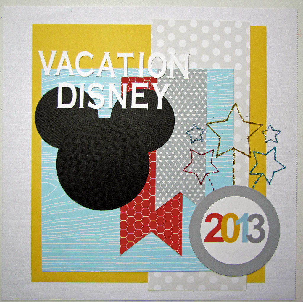 Disney World Vacation Pocket Album Cover Page