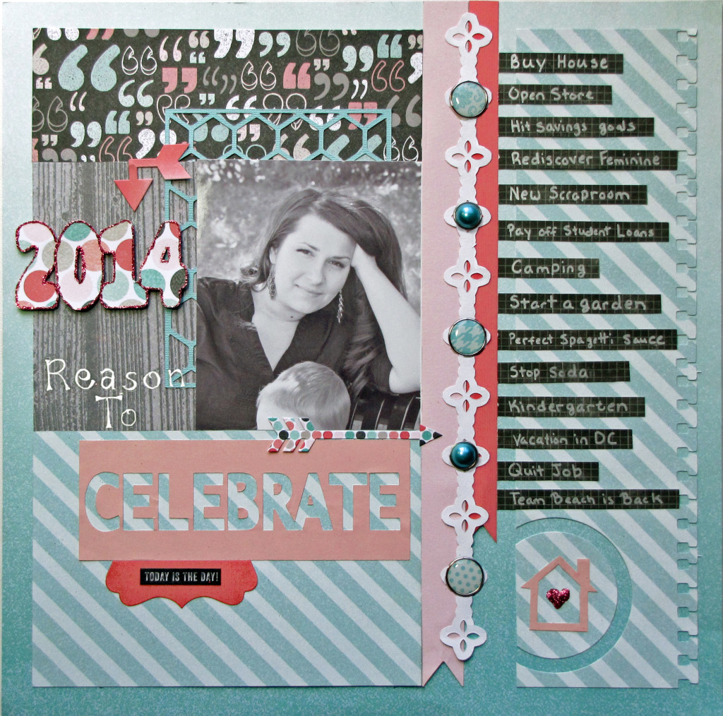 Scrapbook Layout Layout 2014 Me and My Big Plans featuring My Mind's Eye