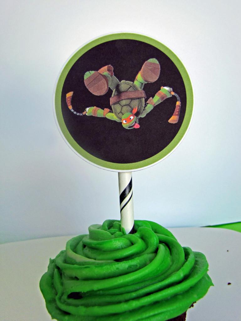 TMNT ninja turtle cupcake