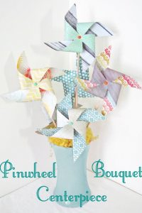 Pinwheel Bouquet Centerpiece
