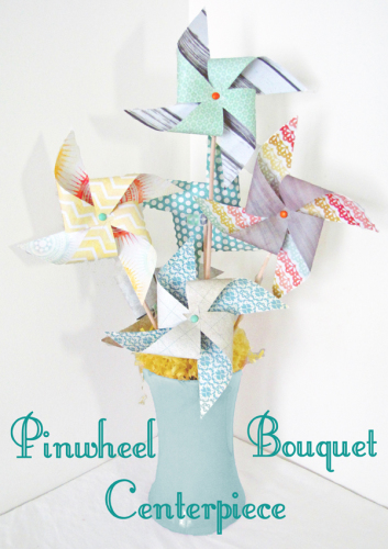 Pinwheel Bouquet Centerpiece Tutorial