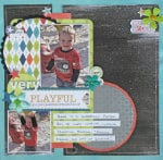 Bright and Fun Scrapbook Layout on Chalkboard Background
