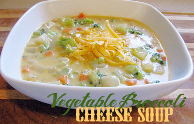 Hearty Vegetable Brocoli Cheese Soup Recipe