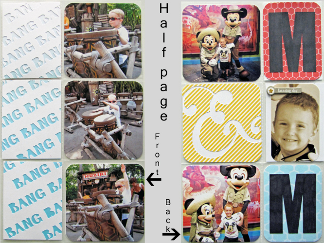 Disney Digital Project Life scrapbook page Animal Kingdom created with Project Mouse products by Sahlin Studio & Britt-ish Designs