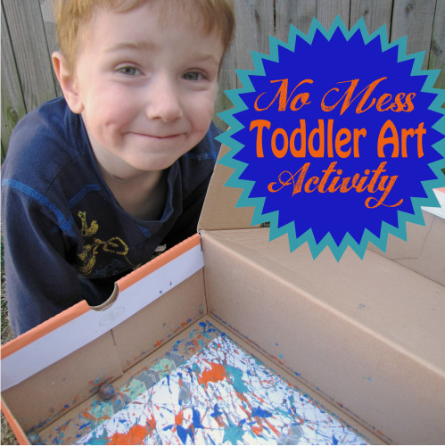 No Mess Toddler Art Activity