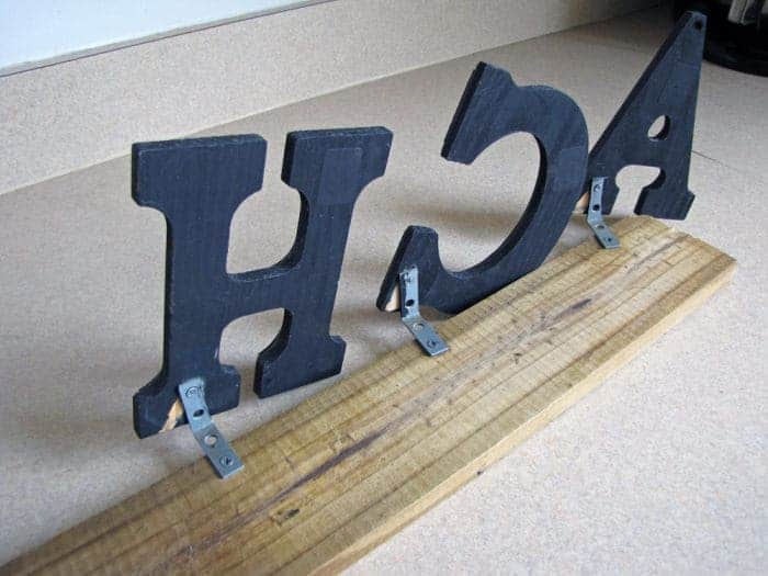 How to decorate above Kitchen cabinets with wood block letters