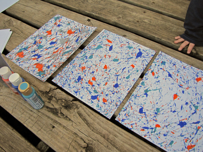 Fun nonmessy art project for toddlers and kids