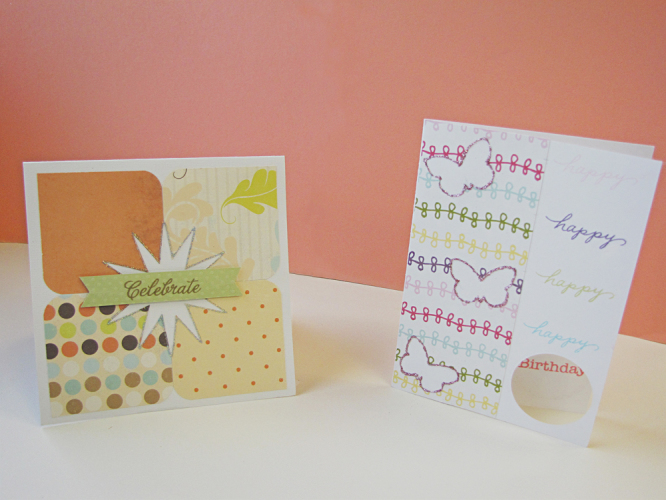 Simple handmade spring cards for cardmaking
