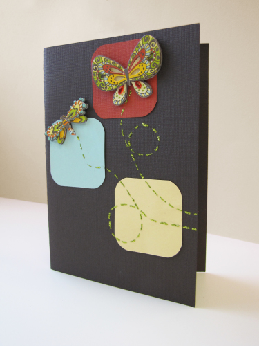 Simple Handmade Card with Butterflies