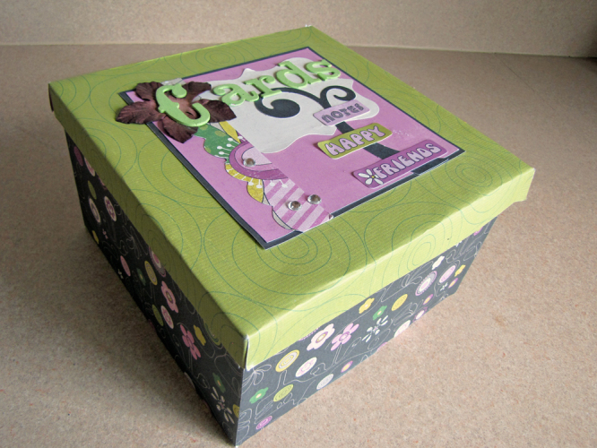 Decorative Box for Storing and Organizing Cards