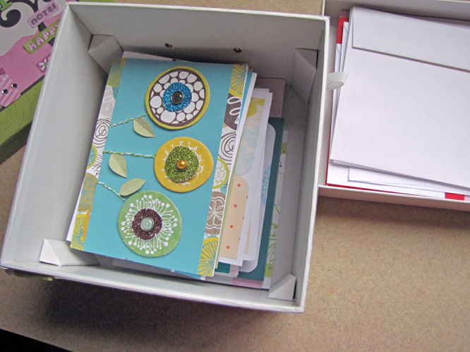 A box to organize and store all of your handmade and special occasion cards