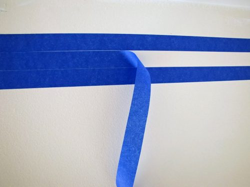 Using Painter's tape to create a boy bedroom header