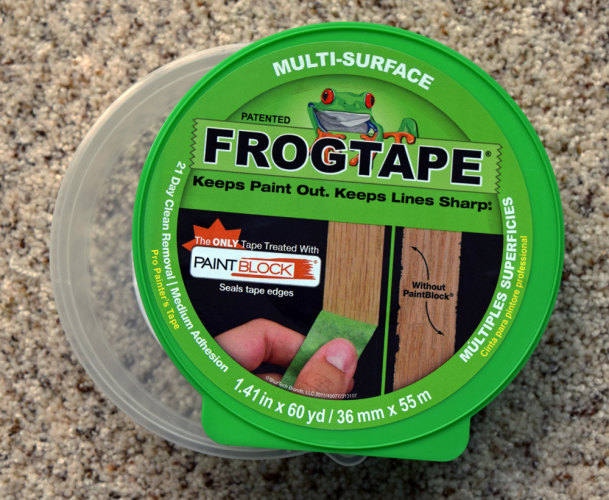Using Frogtape to create straight lines in boy bedroom