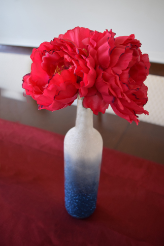 Patriotic Diy Centerpiece Of Red White And Blue
