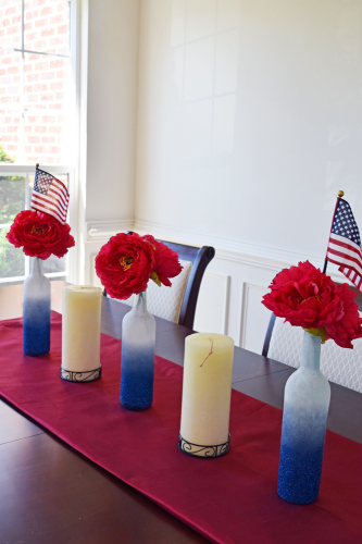 DIY Patriotic Red White and Blue Decorations