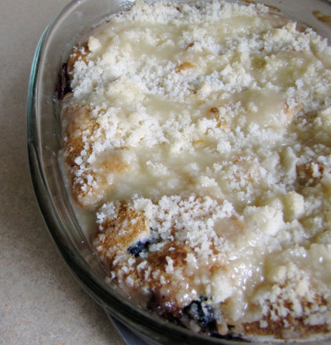 Blueberry Lemon Cake Fail