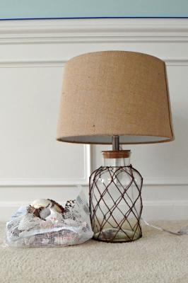 Seashell Lamp Decor for Beachy Bedroom