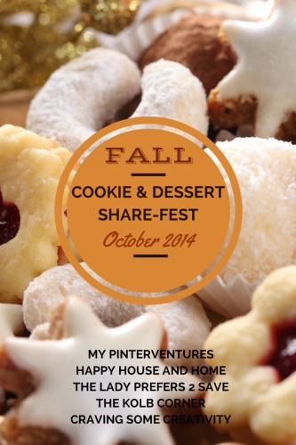 Dessert Share-Fest for the entire month of October. Link up of homemade desserts, cookie recipes, and sweet tooth craving busters.