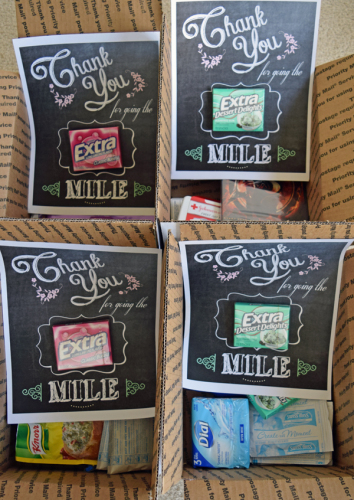 Military Care Packages and Free Thank You Printables- 2 versions