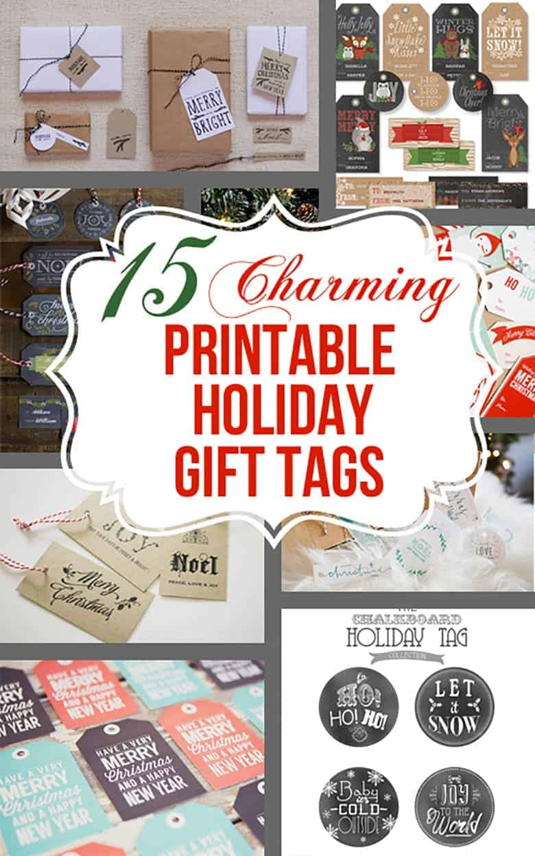 15 charming free printable gift tag sets that you wont believe