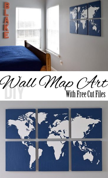DIY Wall Map Art