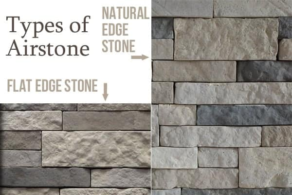 Stone Kitchen Island: Types of Airstone Natural edge vs Flat Edge look