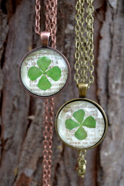 Luck four leaf clover pendant