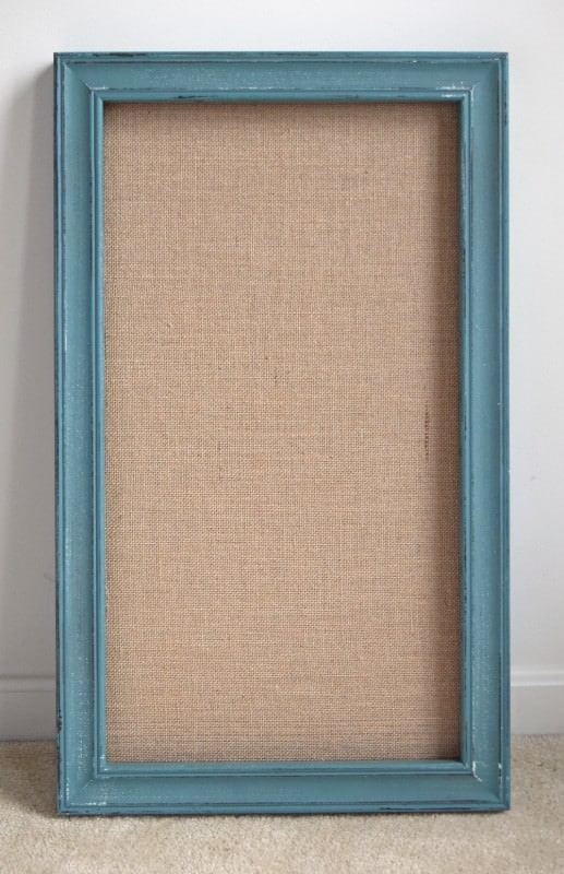 Burlap Canvas Framed Board tuned into a DIY Chalkboard