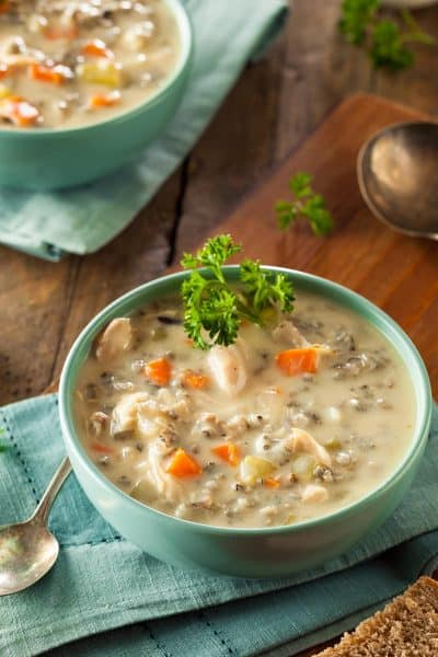 Chicken and Wild Rice Soup Recipe - This creamy soup is so delicious and flavor. It's a family favorite and great fall soup.
