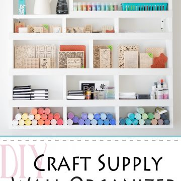 Craft Supply Storage and Organization on the wall - pretty DIY organizer that you can build yourself!