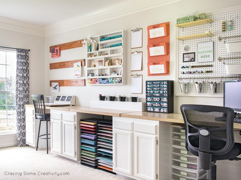 Whole craft room wall organization