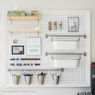 DIY Pegboard for Craft Supply Organization