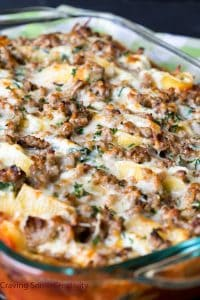 Ricotta Stuffed Shells with Sausage makes an easy italian meal for the whole family!