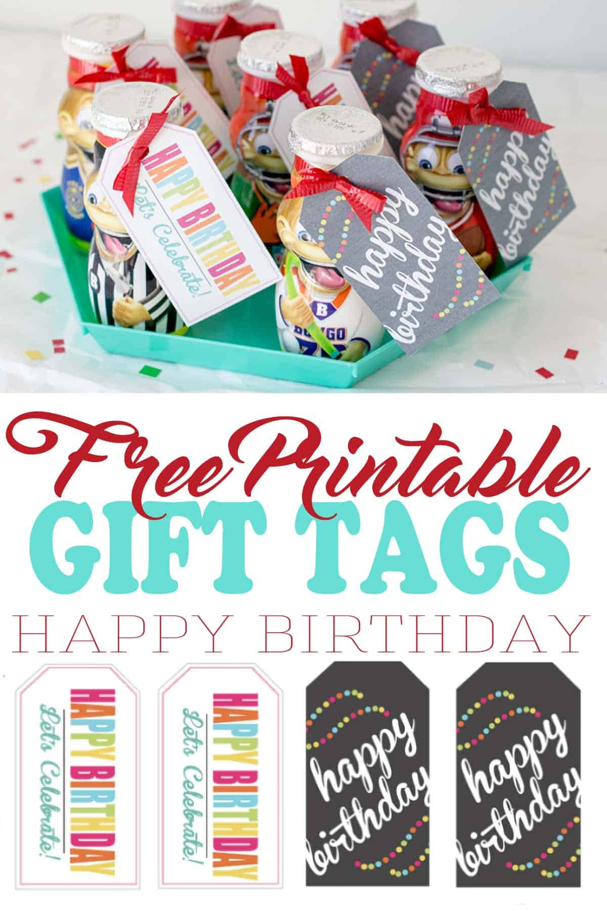 Printable birthday gift tags