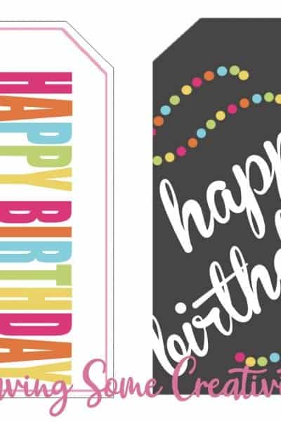 Happy Birthday Tags for Gifts - Free Printable
