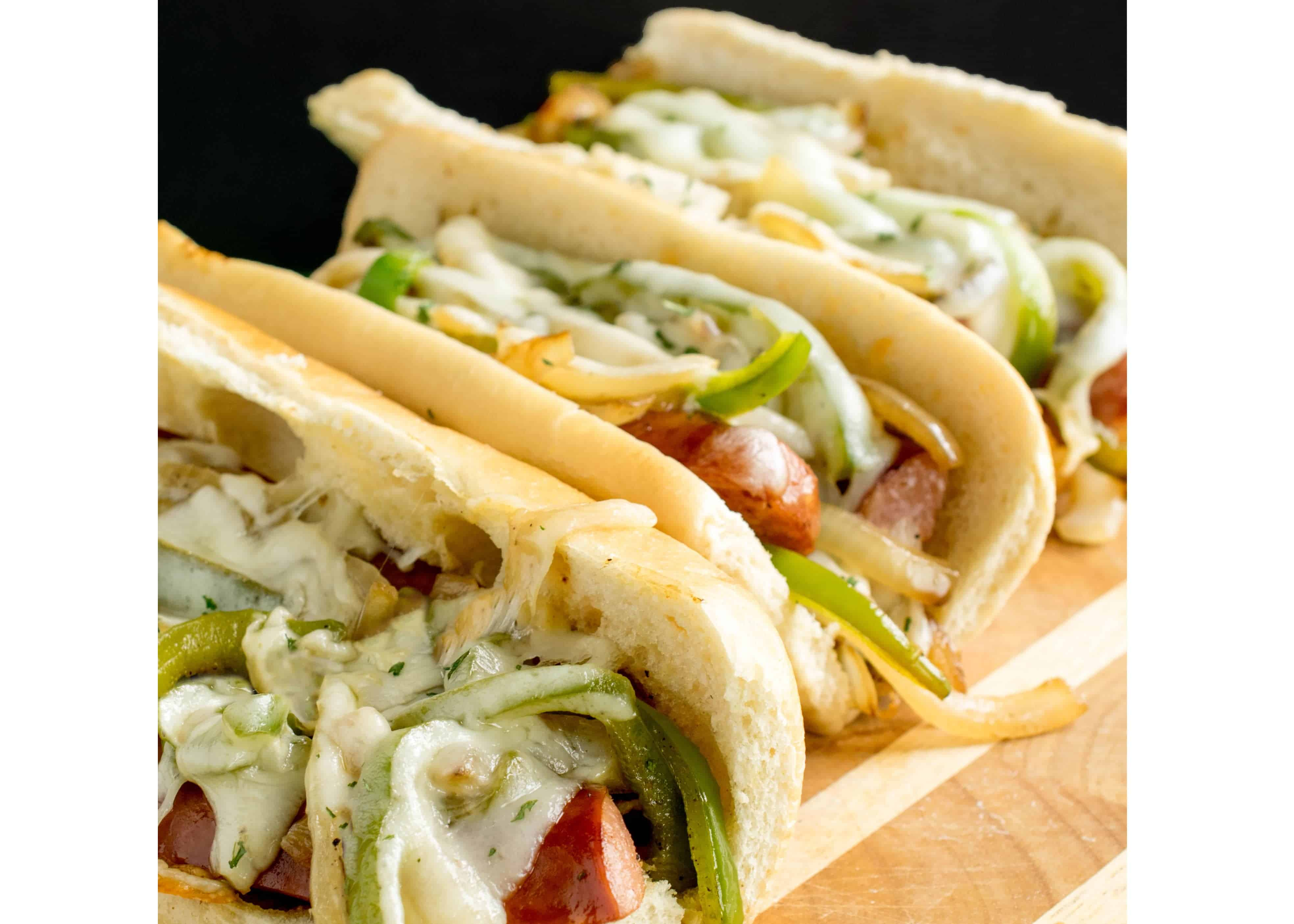 Kielbasa Sandwiches with Peppers and Onions