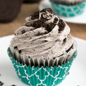 Cookies and Cream frosting with crushed Oreos is divine!