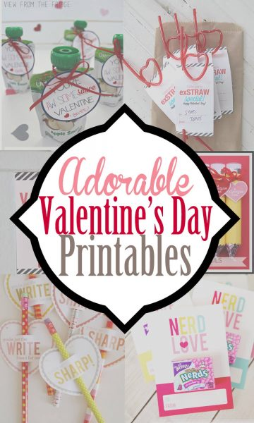 20 adorable ideas for valentines for kids that are free printable valentines and crafts. Also includes box ideas to store them! So many beautiful valentines ideas!