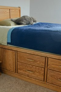Oak Captain Bed with Storage – Painted Furniture Makeover