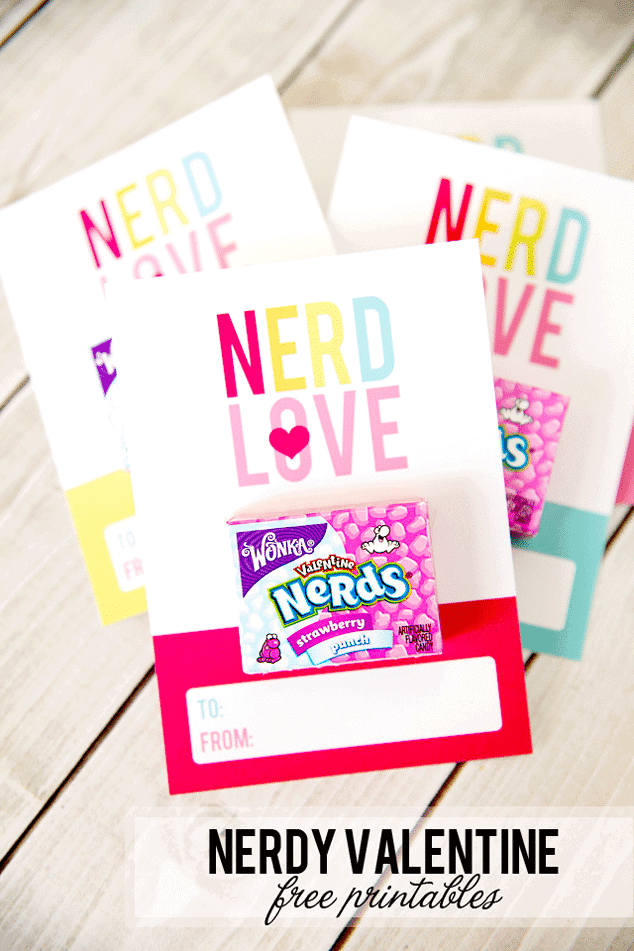 Nerdy Valentine with attached nerds candies