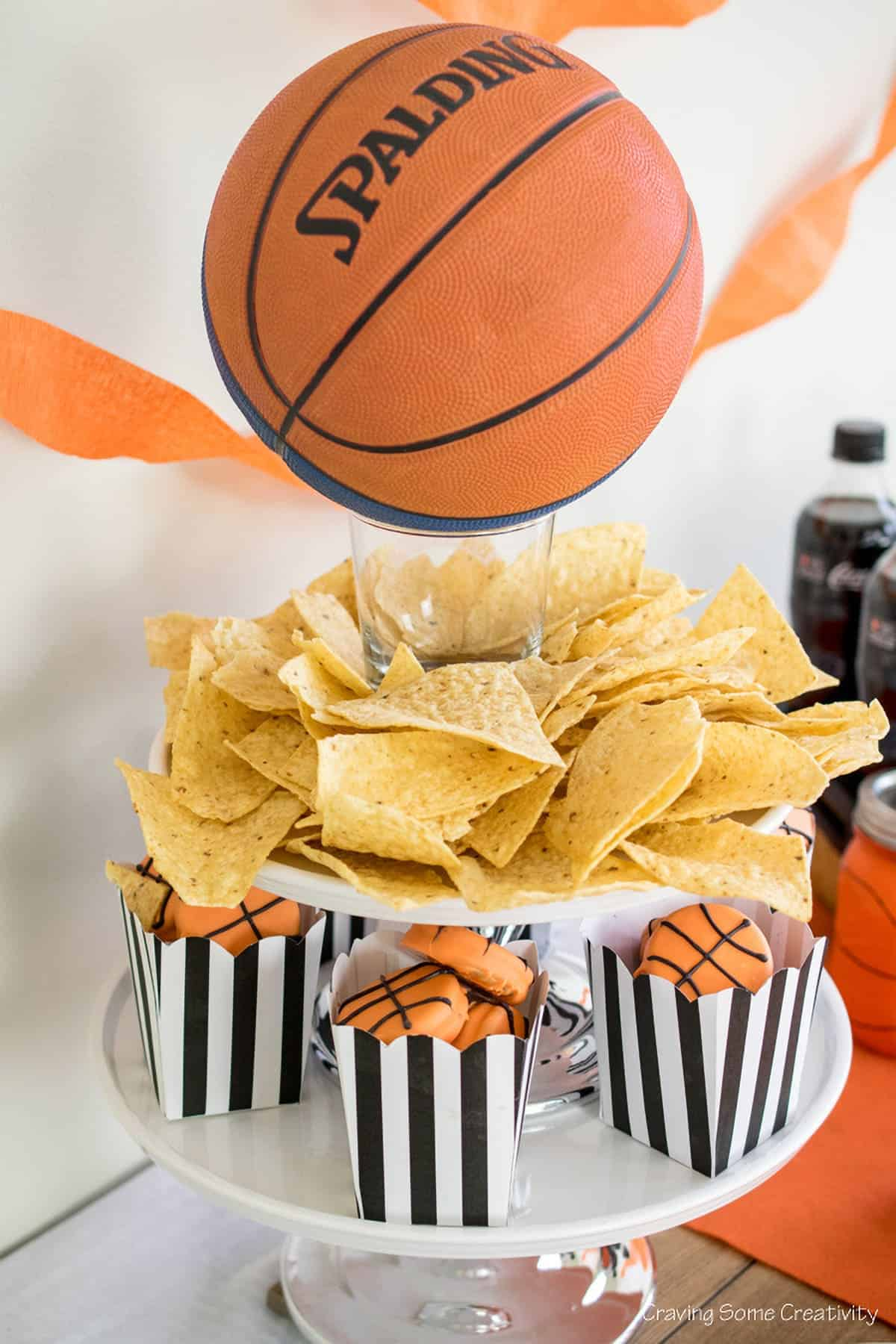 Basketball-Party-Cupcake-Stand-Centerpiece