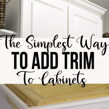 Install Crown Molding On Cabinets, How To Install Kitchen Cabinet Trim