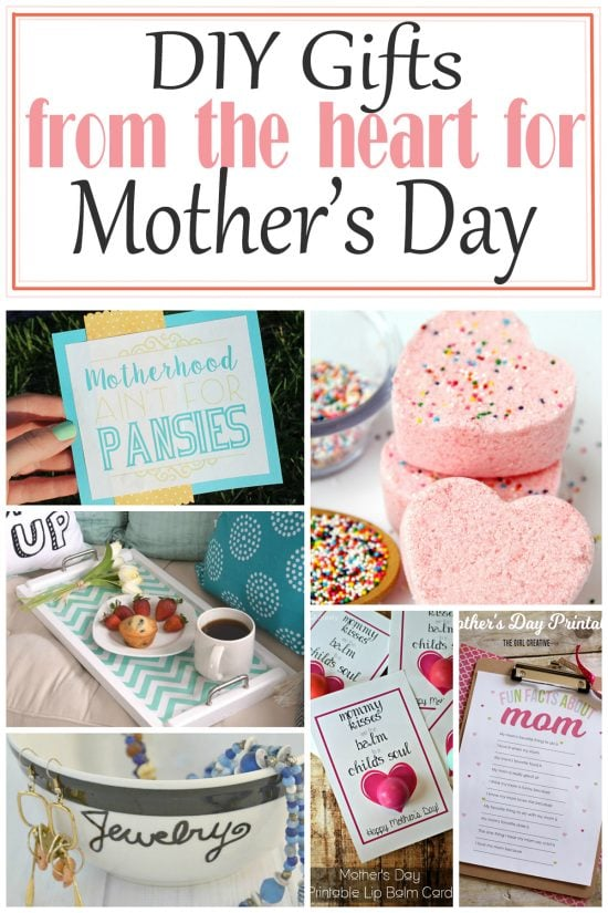 Collage of Mother's day gift ideas for mom with post title.