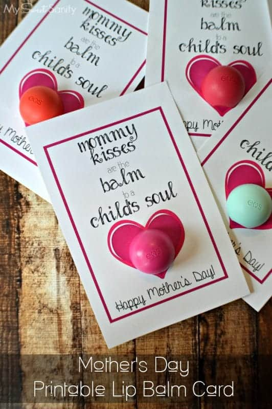 Printable Lip Balm Tag for Mother's Day