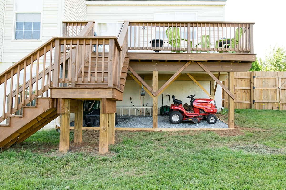 Creating Storage Under a Raised Deck