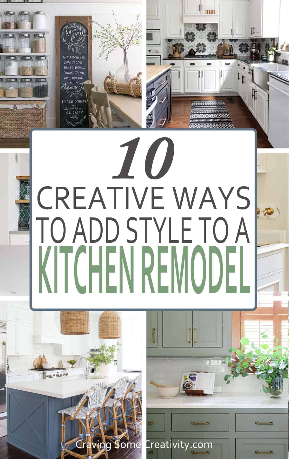 Collage of stylish kitchen remodel ideas with post title.