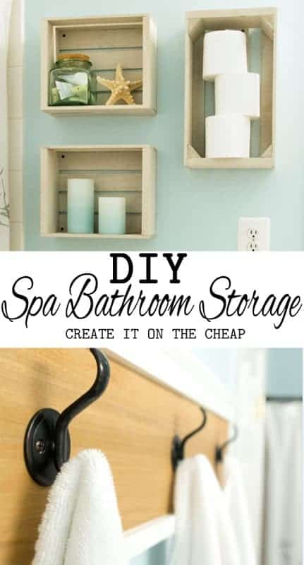 Bathroom storage can be beautiful as well as functional. This DIY towel bar and other storage ideas keep bathroom essentials on display and easy to stock.