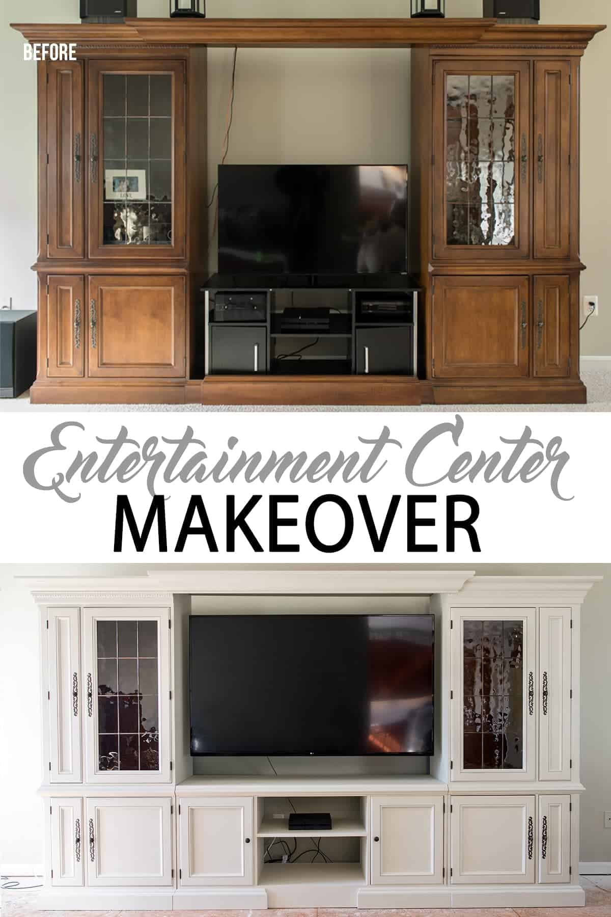 ORC Week 4 – Entertainment Center Makeover (Our Biggest DIY ever!)