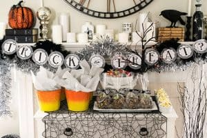 Halloween Party and Mantle Decor